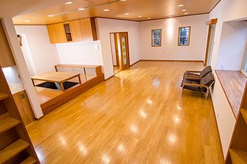 奥室内スペースの拡大