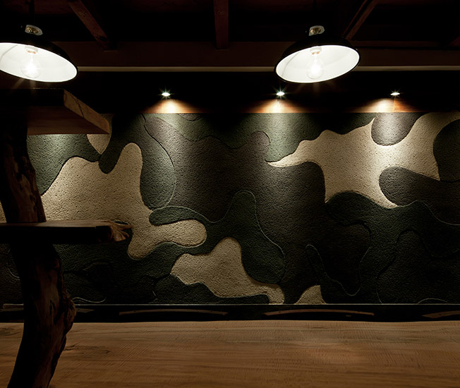 グラフィカルな土壁